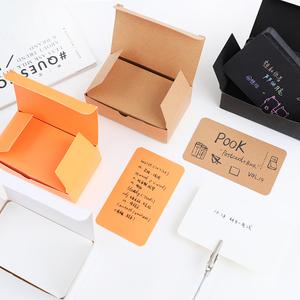 100张/盒 复古风加厚DIY牛皮纸卡片 空白diy涂鸦学生明信片单词卡