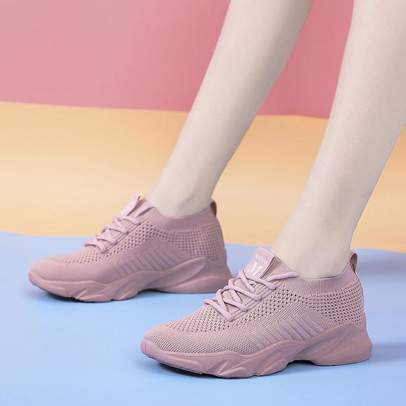 运动鞋女飞织网面女鞋夏季透气百搭休闲女士轻便软底健身跑步鞋子
