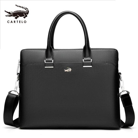 鳄鱼男包手提包商务单肩包斜挎包男士包包公文包背包14寸电脑包