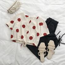 小众设计感短款衬衣夏季2019新款女装韩版潮流职业短袖薄款衬衣寸衣服