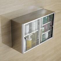 玻璃美一促销墙上吊壁柜透明*130卫生间储物柜吊柜箱收纳柜8038