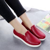 韩国浅口雨鞋女时尚成人平底男短筒码中筒水鞋雨靴劳保平底胶鞋
