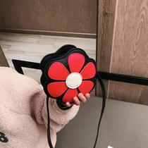 清新花朵小童包包女宝宝可爱斜挎包斜跨小背包学生休闲韩版帆布胸前男包