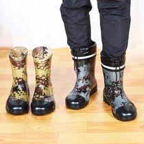 夏季雨鞋男中筒防滑水鞋低口雨靴防水防滑厨房套鞋低帮平底胶鞋