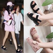 凉鞋女学生2019新款夏季女鞋子韩版版百搭潮鞋夏季夏款布鞋