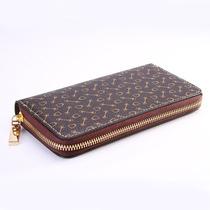 新款钱包男士拉链真皮PU钱夹长款笔袋韩国创意简约女生文具袋零钱包