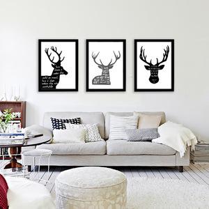 北歐裝飾畫家居小清新現代創意墻畫壁畫臥室有框畫