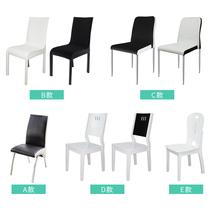 曲巢餐椅金属不锈钢实木餐椅(单买简约家用欧式餐椅扶手椅靠背椅书桌椅