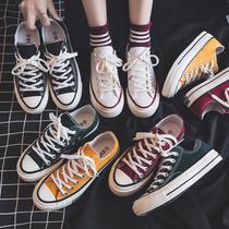 帆布鞋女2019新款百搭韩版百搭休闲鞋女韩版潮流板鞋子潮鞋