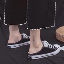 2019夏季新款小白帆布女鞋学生韩版红学生白色厚底小白鞋运动女鞋潮