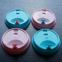 90口径彩色粉红色蓝色注塑盖配款直饮杯盖宝宝杯子老虎蓝色