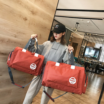 旅行包韩版短途潮耐用牛津布双肩背包大容量健身抽绳袋束口袋