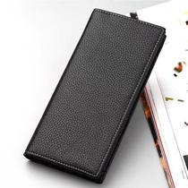 男士PU软皮钱包长款拉链手机短款个性三折男士钱包PU钱包