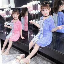 女童连衣裙夏装2019新款儿童超洋气-13岁小学生女孩韩版雪纺裙子