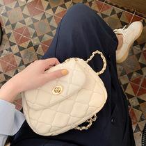 女包2019韩版新款时尚菱格链条包女时尚简约大容量单肩包大气手提包