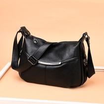 中年女包包2019新款妈妈大容量软皮跨洋气女包单肩手提小包包百搭