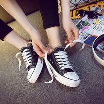 新款小白帆布女鞋夏季百搭潮鞋百搭时尚平底鞋ins潮配仙女裙女鞋