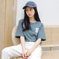 纯棉短袖T恤女士2019新款韩版学生学生小清新甜美宽松韩版少女装上衣