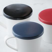 cybil红色蓝色黑色盖子哑光陶瓷马克注塑杯盖黑塞子奶茶杯盖红色蓝桃